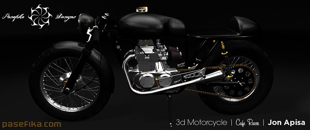 3d Motorcycle by Jon Apisa
