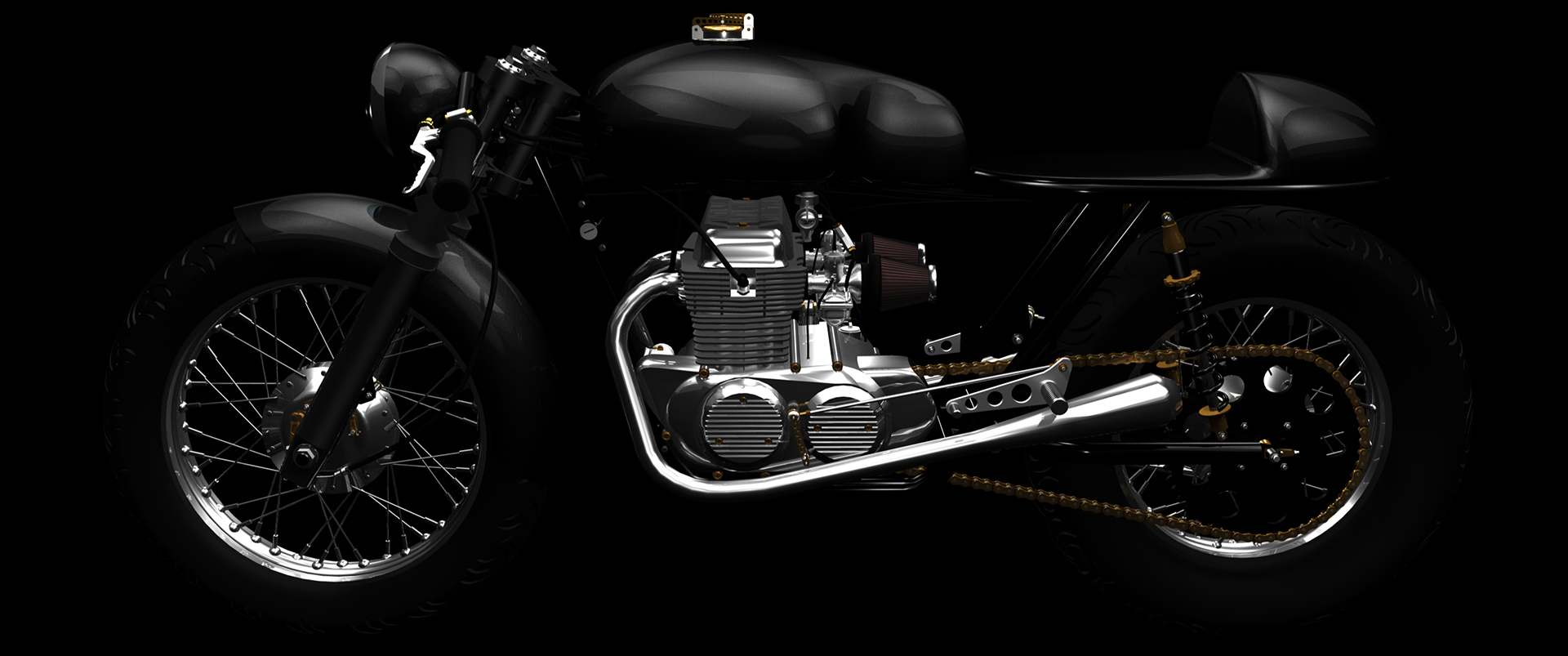 3d Motorcycle by Jon Apisa