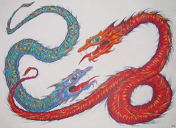 Dragons by Jon Apisa