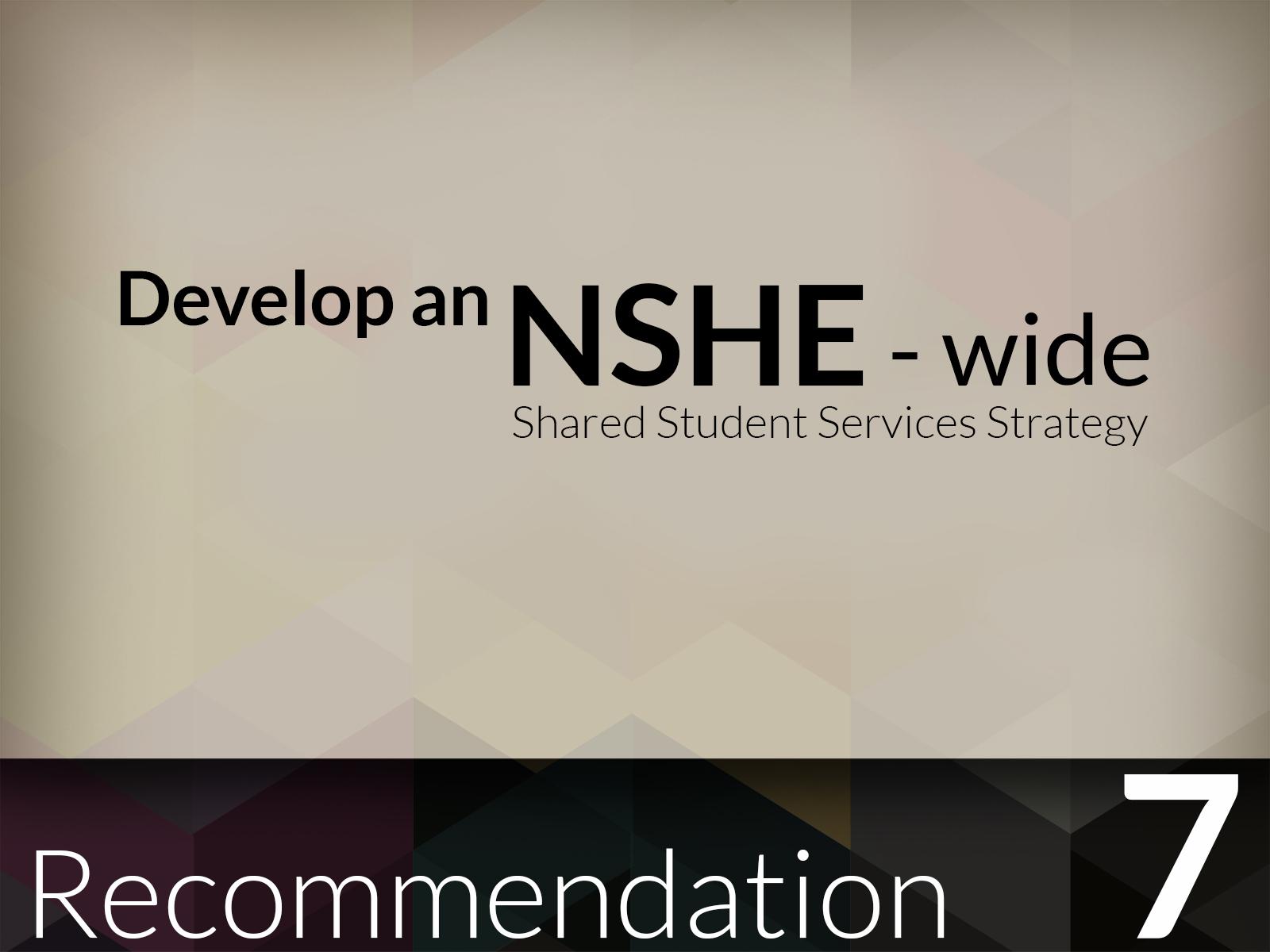 NSHE Reccomendations by Jon Apisa