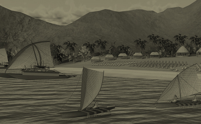 3D Samoan village Nuu Samoa