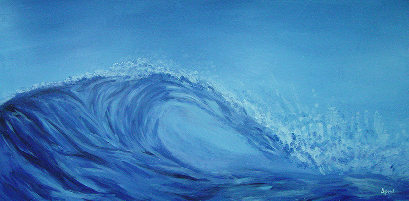 The Wave Painting by Jon Apisa