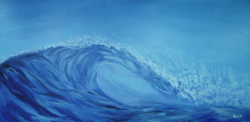 The Wave Painting by Jon Apisa